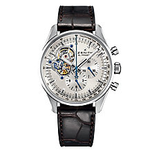 Zenith El Primero Open Men's Stainless Steel Strap Watch - Product number 6890318