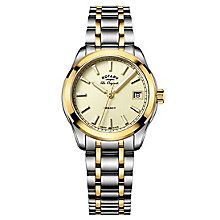 Rotary Ladies' Two Tone Gold Plated Bracelet Watch - Product number 6892094