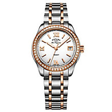 Rotary Gents' Two Tone Rose Gold Plated Bracelet Watch - Product number 6892108