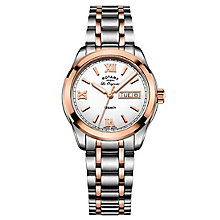 Rotary Gents' Two Tone Rose Gold Plated Bracelet Watch - Product number 6892213