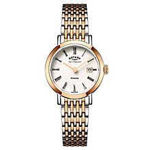 Rotary Gents' Two Tone Rose Gold Plated Bracelet Watch - Product number 6892310