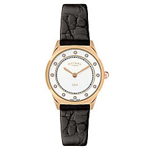 Rotary Ladies' Black Leather Strap Watch - Product number 6892329