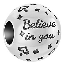 Chamilia Sterling Silver Believe In You Bead - Product number 6893198