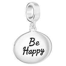 Chamilia Sterling Silver Be Happy Charm - Product number 6893260