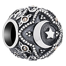 Chamilia Sterling Silver Cresent Moon & Stars Bead - Product number 6893503