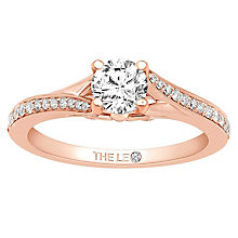 Leo Diamond 18ct Rose Gold 0.63ct Diamond Ring - Product number 6897428