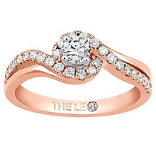 Leo Diamond 18ct Rose Gold 0.50ct II1 Diamond Halo Ring - Product number 6898467