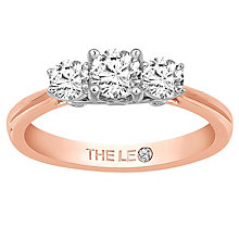 Leo Diamond 18ct Rose Gold 3 Stone 75pt II1 Diamond Ring - Product number 6899129