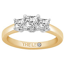 Leo Diamond 18ct Yellow Gold 3 Stone 75pt II1 Diamond Ring - Product number 6899536