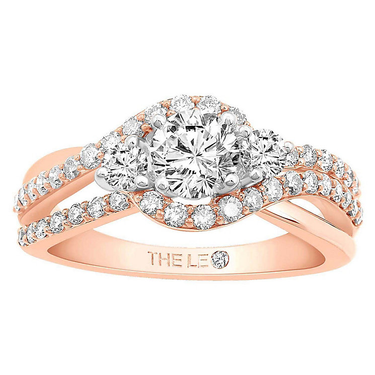 Leo Diamond 18ct Rose Gold 1ct Diamond Ring - Product number 6899781