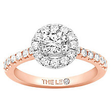Leo Diamond 18ct Rose Gold 1ct Diamond Round Halo Ring - Product number 6900720