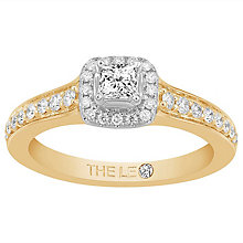 Leo Diamond 18ct Yellow Gold 0.50ct II1 Diamond Halo Ring - Product number 6901913