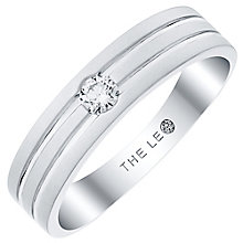 Leo Diamond Men's Platinum Diamond Band - Product number 6903908