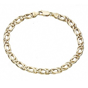 Unbranded 9ct Yellow Gold Fancy Celtic Bracelet