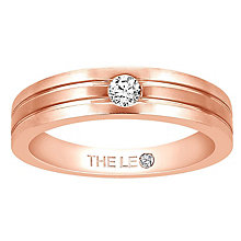 Leo Diamond Men's 18ct Rose Gold Diamond Band - Product number 6904742