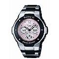 Baby-G Combi Pink Dial Stainless Steel Bracelet Watch - Product number 6904939