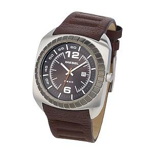Diesel Men's Brown Dial Brown Leather Strap Watch