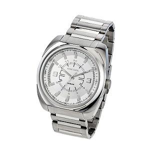 Diesel Men's Silver Dial Stainless Steel Bracelet Watch