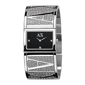 Armani Exchange Ladies' Stone Set Semi Bangle Watch - Product number 6906427