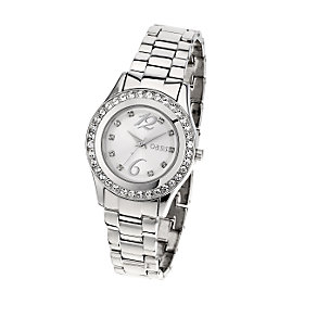 Oasis Ladies' Stainless Steel Bracelet Stone Set Watch - Product number 6906648