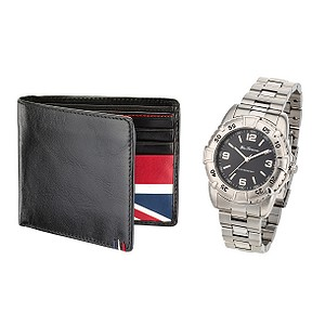Mens Watch and Wallet Gift Set