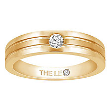 Leo Diamond Men's 18ct Yellow Gold Diamond Band - Product number 6907105