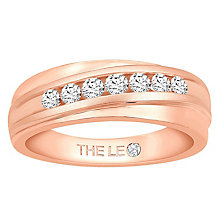 Leo Diamond Men's 18ct Rose Gold 0.50ct Diamond Band - Product number 6907377