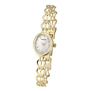 Sekonda Ladies' Gold-Plated Stone Set Watch - Product number 6907539