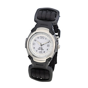 Limit Child's White Dial Black Canvas Strap Watch - Product number 6907903