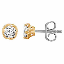 Leo Diamond 18ct Yellow Gold 0.50ct Diamond Earrings - Product number 6908683