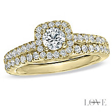 Vera Wang 18ct Yellow Gold 0.95ct Diamond Bridal Set - Product number 6909655