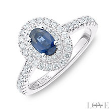 Vera Wang Platinum 0.45ct Diamond Sapphire Ring - Product number 6911706