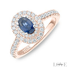 Vera Wang 18ct Rose Gold 0.45ct Diamond Sapphire Ring - Product number 6911978