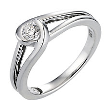 Love's Embrace 9ct white gold fifth carat diamond ring - Product number 6912311