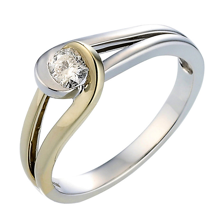 Love's Embrace 9ct two colour gold fifth carat diamond ring - Product number 6912443