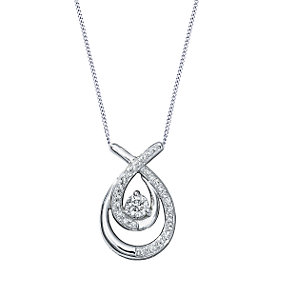 Love's Embrace 9ct white gold third carat diamond pendant - Product number 6912591