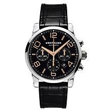 Montblanc Timewalker men's black leather strap watch - Product number 6912966