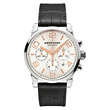 Montblanc Timewalker men's black leather strap watch - Product number 6912974