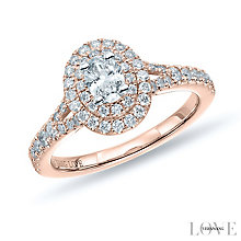 Vera Wang 18ct Rose Gold 0.75ct Diamond Double Halo Ring - Product number 6914810