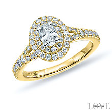 Vera Wang 18ct Yellow Gold 0.75ct Diamond Double Halo Ring - Product number 6914950