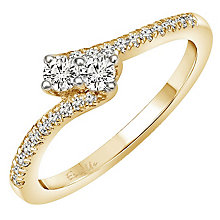 Ever Us 14ct Yellow Gold 0.33ct Diamond Twist Ring - Product number 6915493