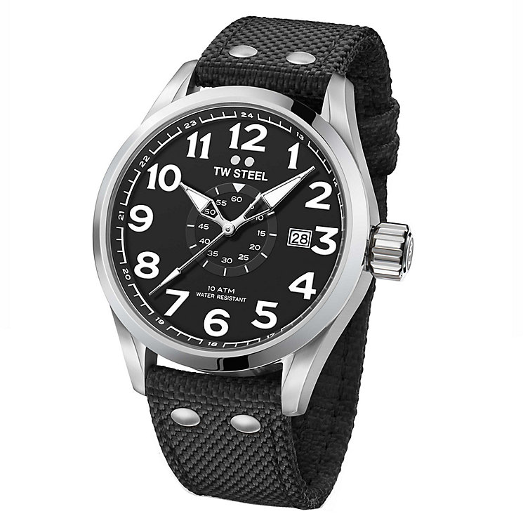 TW Steel Volante Men's Stainless Steel Black Strap Watch - Product number 6915620