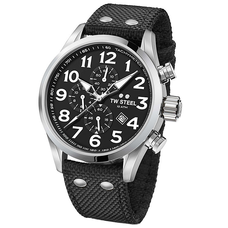 TW Steel Volante Men's Stainless Steel Black Strap Watch - Product number 6915655