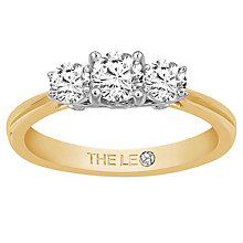 Leo Diamond 18ct Yellow Gold 3 Stone 75pt II1 Diamond Ring - Product number 6916236