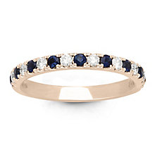 Neil Lane 14ct Rose Gold Sapphire and 0.23ct Diamond Band - Product number 6934889