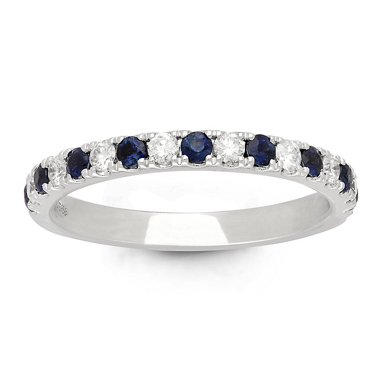 Neil Lane Platinum Sapphire and 0.23ct Diamond Band - Product number 6935028