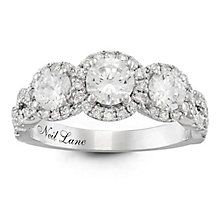 Neil Lane 14ct Rose Gold 1.5ct Diamond 3 stone Ring - Product number 6935419