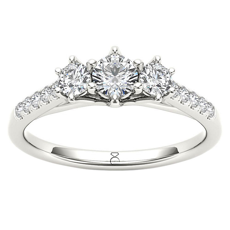 The Diamond Story Platinum 0.50ct Diamond Ring - Product number 6936393