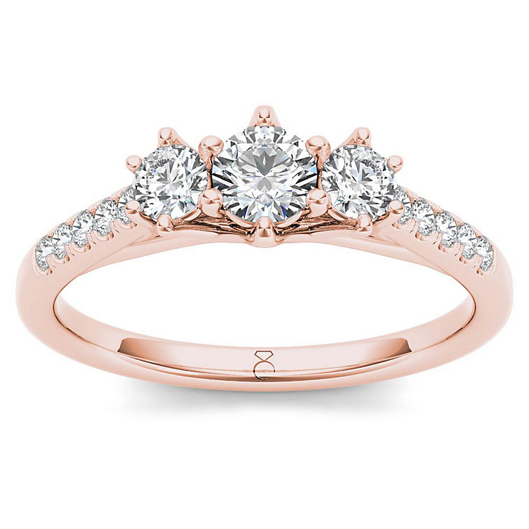 The Diamond Story 18ct Rose Gold 0.50ct Diamond Ring - Product number 6936520