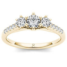 The Diamond Story 18ct Rose Gold 0.50ct Diamond Ring - Product number 6936660